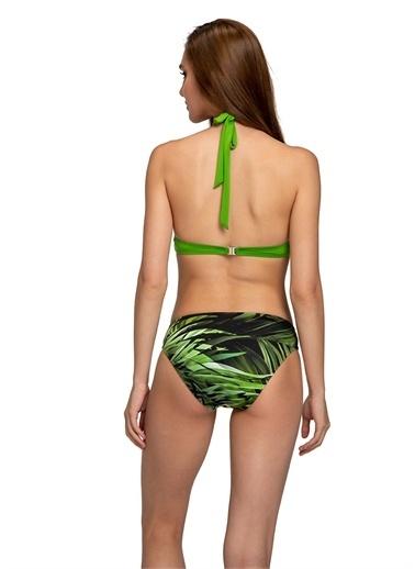 Dagi Kapli Üçgen Bikini Takimi Yeşil